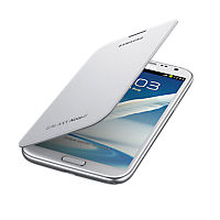 Flip Book  Cover for Samsung Galaxy Note II - White