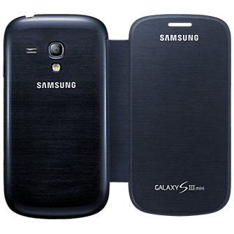 Samsung Flip Book Cover for Galaxy S III Mini- Black