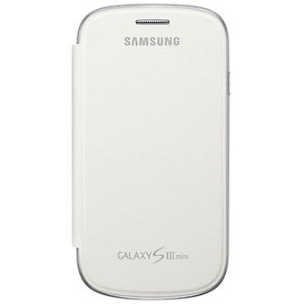 Samsung Flip Book Cover for Galaxy S III Mini- White