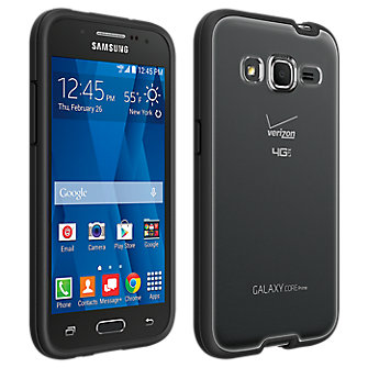 Clear Shell with Black Edge for Samsung Galaxy Core Prime