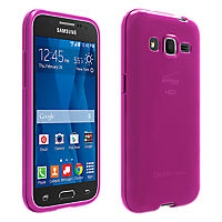 High Gloss Silicone Cover for Samsung Galaxy Core Prime - Pink
