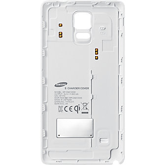Samsung Galaxy Note 4 Wireless Charging Battery Cover - Frost White