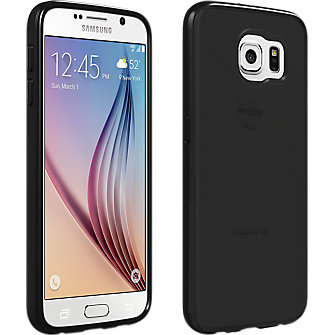 High Gloss Silicone Cover for Samsung Galaxy S 6 - Black