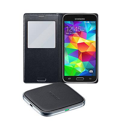 Wireless Charging Bundle for Samsung Galaxy S 5 - Black
