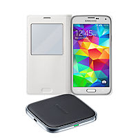 Wireless Charging Bundle for Samsung Galaxy S 5 - White