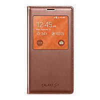 Samsung S-View Flip Cover for Galaxy S 5 - Rose Gold