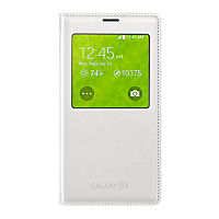 Samsung S-View Flip Cover for Galaxy S 5 - Pearl White
