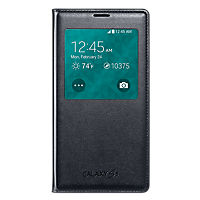Samsung Wireless Charging S-View Flip Cover for Galaxy S 5 - Black