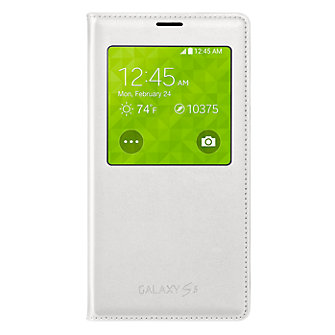 Samsung Wireless Charging S View Flip Cover For Galaxy S 5 White