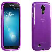 High Gloss Silicone Cover for Samsung Galaxy S 4 - Purple