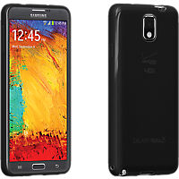 High Gloss Silicone Cover for Samsung Galaxy Note 3 - Black