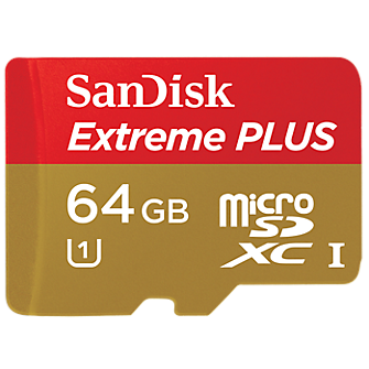 SanDisk Extreme Plus 64 GB microSDHC Class 10 UHS-I Memory Card