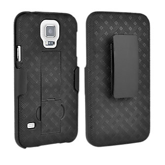 Superior Shell Holster Combo for Galaxy S5 - Black