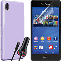 Silicone Travel Bundle for Xperia Z3v - Purple