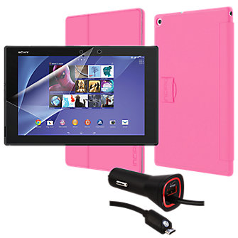 Premium Travel Bundle for Xperia Z2 - Pink