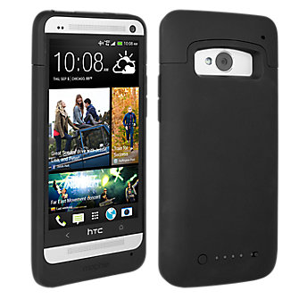 mophie juice pack for HTC One - Black