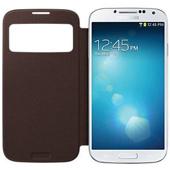 Samsung S-View Flip Cover  - Brown