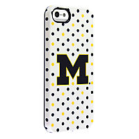 Uncommon University of Michigan Polka Dots Deflector Case for iPhone 5/5s