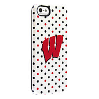 Uncommon University of Wisconsin Polka Dots Deflector Case for iPhone 5/5s