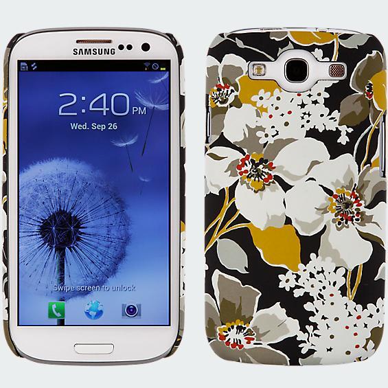 Vera Bradley White Dogwoods Hard Cover for Samsung Galaxy S III