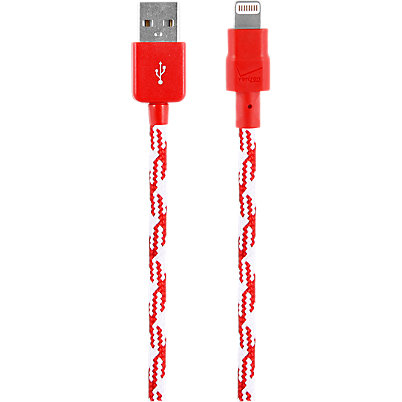 Braided Charge and Sync Cable for Apple Lightning - Red