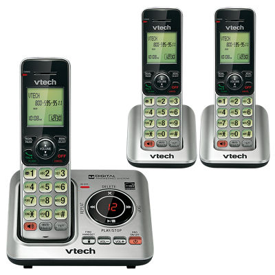 3 handset cordless answering system at&t