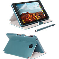 Folio Case, Screen protector and Stylus Pen Bundle for Ellipsis 8 - Blue