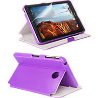 Folio Case and Screen Protector Bundle for Ellipsis 8 - Purple