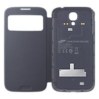 Wireless Charging S-View Cover for Galaxy S 4 - Black