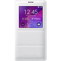 Wireless Charging S-View Flip Cover for Galaxy Note 4  - White