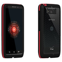 VZW Bumper Droid Mini- Gray/Red