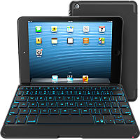 ZAGGkeys Folio Backlit Bluetooth Keyboard for Apple iPad Mini